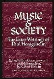 Music and Society : The Later Writings of Paul Honigsheim, Etzkorn, K. Peter, 0471246808
