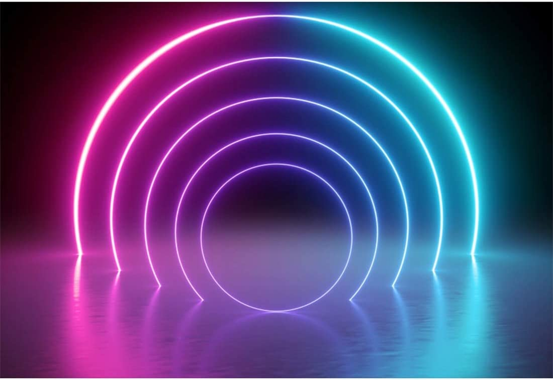 Amazon Com Yeele 5x3ft Disco Dance Party Backdrop For Photography Neon Adults Party Decoration Aperture Neon Lights Bright Ballroom Tunnel Stage Background Party Event Banner Photo Booth Shoot Studio Props Camera