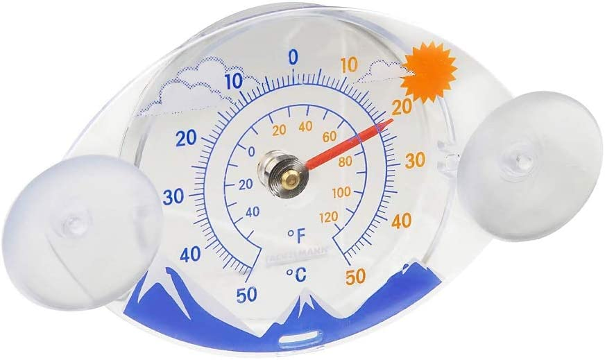 Fackelmann Fensterthermometer Tecno Analoges Außenthermometer Thermometer Mit Temperaturanzeige 50 C Farbe Bunt Menge 1 Stück Garten