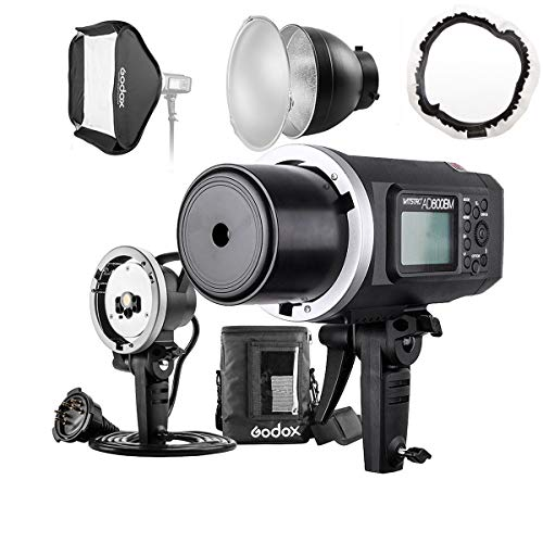 Godox AD600BM 600Ws GN87 HSS Flash Strobe Monolight with 8700mAh Battery, 600W Portable Lamp Flash Head, 23