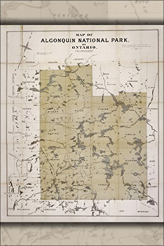 - 24x36 Poster; Map Of Algonquin National Park Of Ontario 1893
