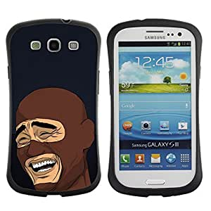 Hybrid Anti-Shock Bumper Case for Samsung Galaxy S3 / LOL MEME Laughing Face