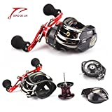 RG Fishing Reels With Low-Profile Baitcasting Reel Ultra Smooth Magnetic Brake System 6.3:1 Gear Ratio Bait Casting Fishing Trolling Reel 12+1BB For Sale