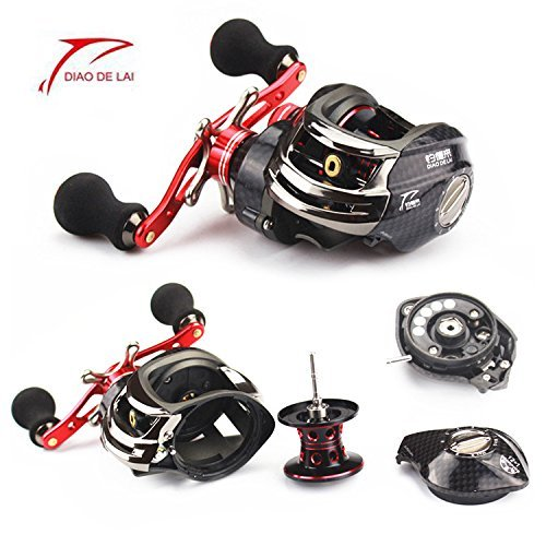 RG Fishing Reels With Low-Profile Baitcasting Reel Ultra Smooth Magnetic Brake System 6.3:1 Gear Ratio Bait Casting Fishing Trolling Reel 12+1BB