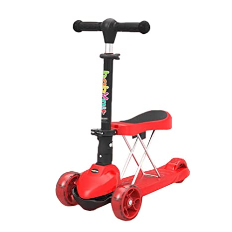 Patinete- Rojo Mini Scooter Plegable para Niñas/Niños ...