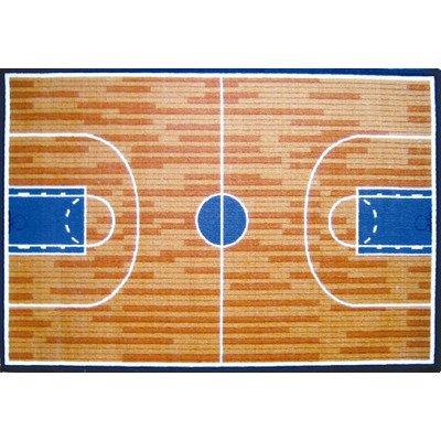 Fun Time Basketball Court Sports Rug Size: 3'3'' x - Time Fun Basketball