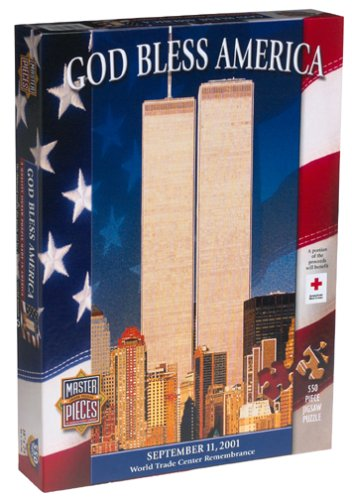 God Bless America Jigsaw Puzzle 550pc by American Puzzles (Puzzle Masterpieces 550pc)