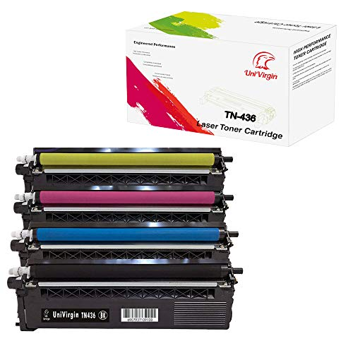 4 Pack Super High Yield Compatible TN436 Toner Cartridge for L8900CDW 9570CDW