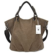[KIREI obsession] Tote Bag, Canvas, Shoulder Bag / Cross-body bag, Large Capacity, Organized Interior [2 Sizes][5 Colors]
