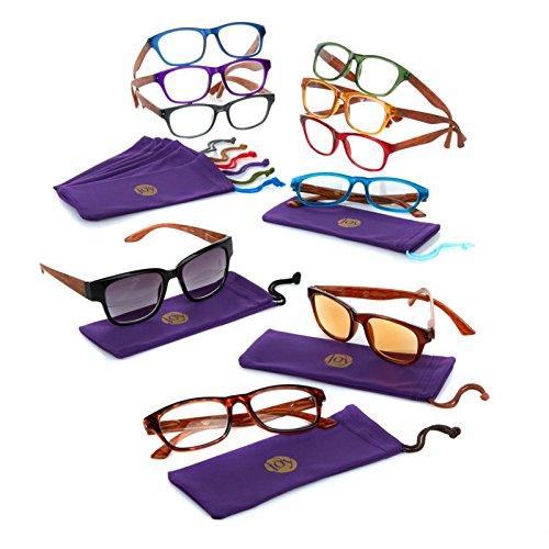 Joy Mangano 20-pc SHADES Readers w/ Smart Lenses & Designer Frames - Glasses Reading Transitional
