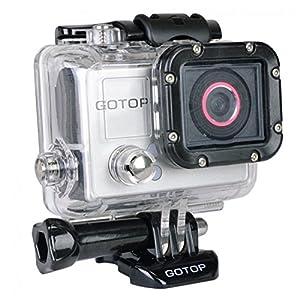 SUPTG Gotop Silver Edition Full HD 1080p Sports Action Waterproof Mountable Camera w/1.5 LCD mini-HDMI & microSD Slot