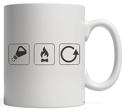 Amazon Salt Burn Repeat Icon Symbols Mug Funny Supernatural