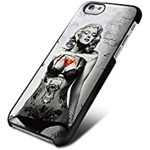 Marlyn Monroe Sexy Tattoo for Iphone and Samsung (iPhone 6 plus black)