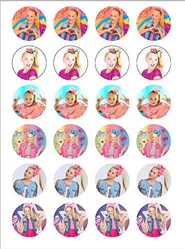 Jojo Siwa ~ Two Dozen ~ Cupcake Topper ~ Edible Frosting Image ~ Oreo Topper ~ Wafer