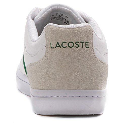 Lacoste Mens Gripton 116 1 Baskets Mode Blanc Cuir / Textile