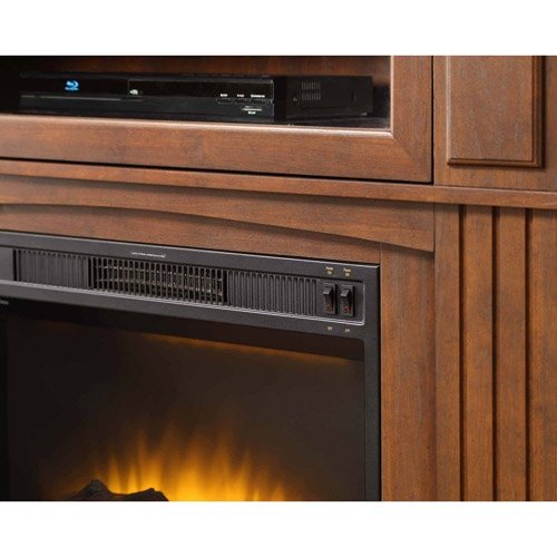 Amazon.com: Media Fireplace TV Stand Combo For Televisions Up To 45 Inches    Brown: Home U0026 Kitchen  Fireplace Media Stand