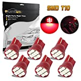 odometer toyota corolla - Partsam 6pcs Red Instrument Panel Cluster Bulbs T10 194 168 LED Light 8-SMD Chip Speedometer Odometer Gauges Dash Lamp