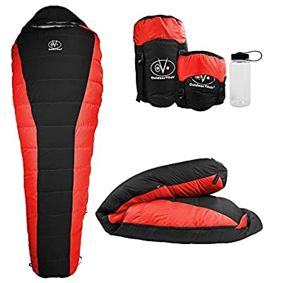 Outdoor Vitals Atlas 15-30 Degree Lightweight Down Sleeping Bag with Compression Sack