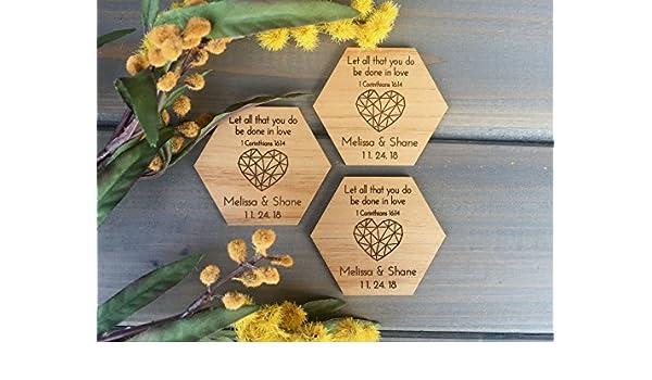 Amazon Wedding Favor Magnets Hexagon And Heart Christian