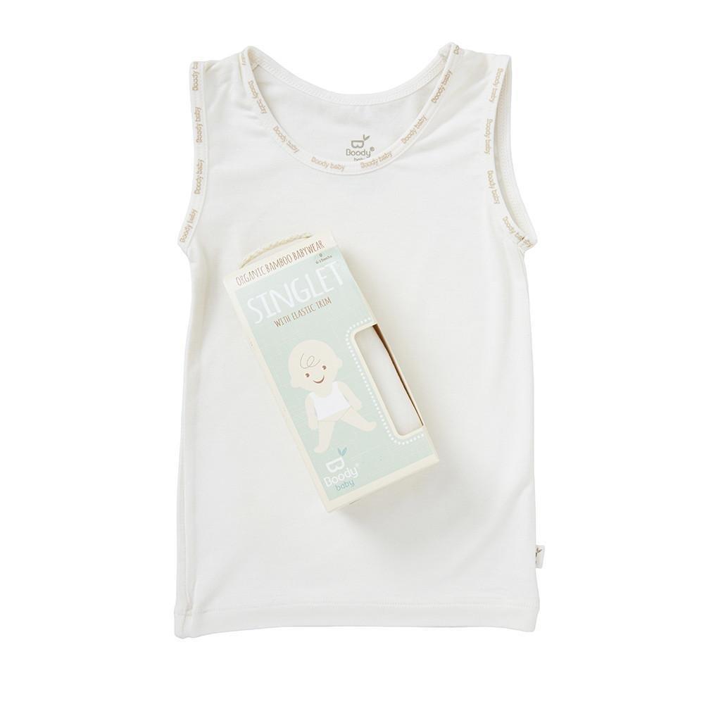 Boody Body Baby EcoWear - Chalk White Tank SI
