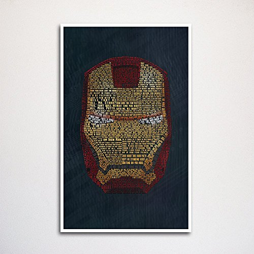 Iron Man word art print - Www Ironman