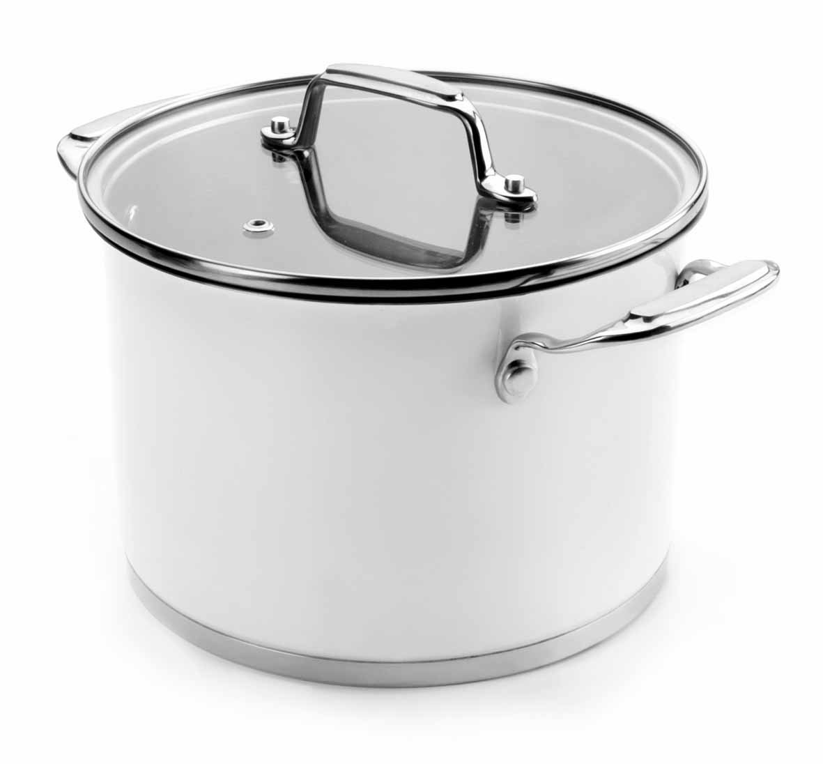 Lacor Stockpot with Glass Lid White 16 cm Stainless Steel