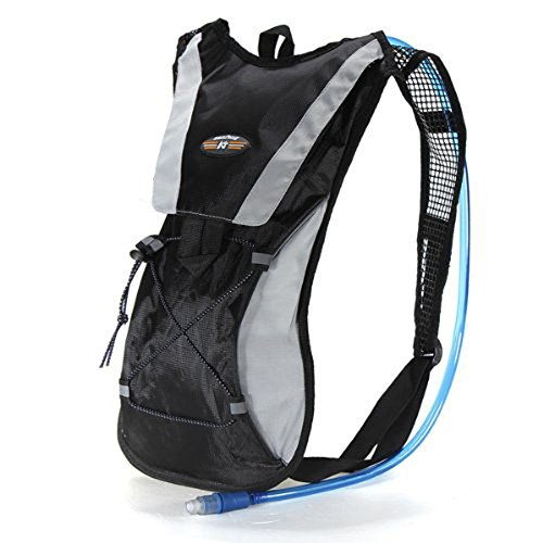 eBoTrade Hydration Pack Water Rucksack Backpack Bladder Bag Cycling Bicycle Bike/Hiking Climbing Pouch + 2L Hydration - Iron Rucksack Man
