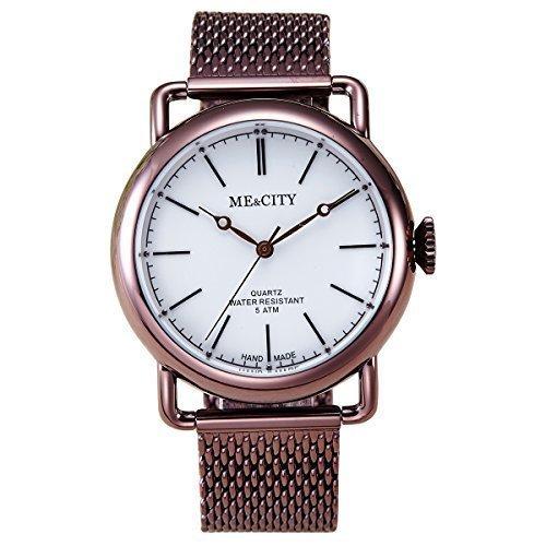 53129a57a708 ME CITY Reloj Exclusivo para Mujer Estilo Europeo Retro Estilo Analógico  Movimiento Suizo Impermeable - Acero inoxidable