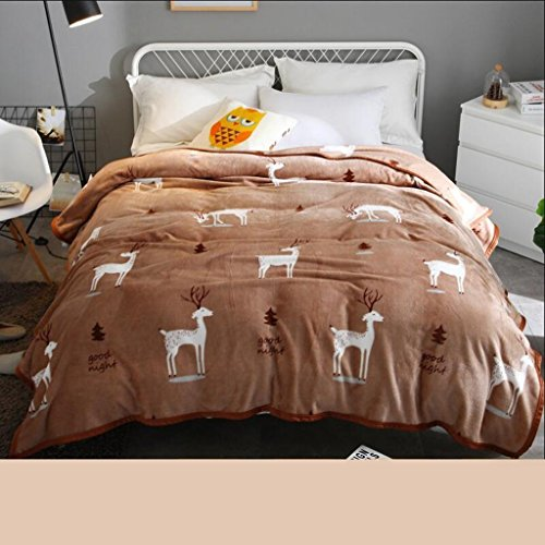YAOHAOHAO Light tanning animal of the image of the winter dorm invisible students flannel thickening quilts thermal plates (Size: 150200 cm) by YAOHAOHAO