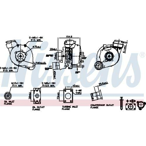 Nisss 93173 Turbo Charger: