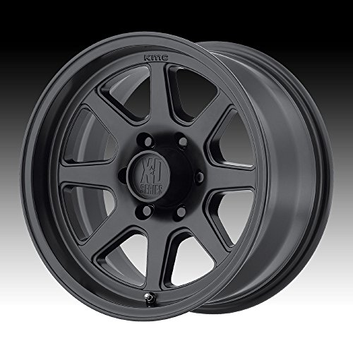 XD SERIES BY KMC WHEELS XD301 TURBINE Wheel with BLACK and Chromium (hexavalent compounds) (16 x 8. inches /6 x 108 mm, 0 mm -