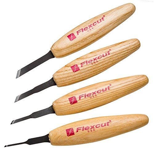 Ramelson | Micro Skew Woodcarving Tools | Detailing Knife | Whittling | Steel | Carving Set | 4 Piece