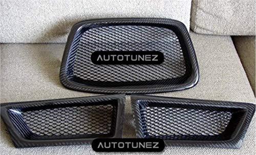 (Carbon Fiber Grilles For Subaru Impreza WRX STI 2006 2007)