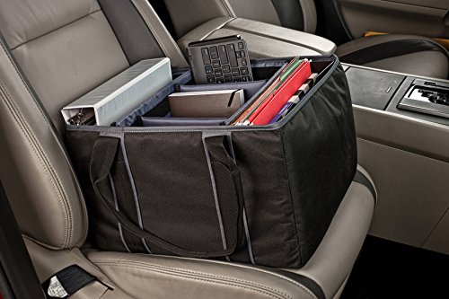 AutoExec AETote-08 Black/Grey File Tote with One Cooler and One Hanging File Holder by AutoExec (Image #11)