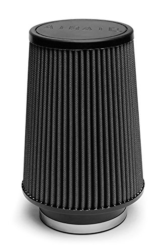 Airaid 702-422 Universal Clamp-On Air Filter: Round Tapered; 3.5 in (89 mm) Flange ID; 8 in (203 mm) Height; 6 in (152 mm) Base; 4.625 in (117 mm) Top