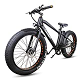 NAKTO 26' Fat Tire Electric Bicycle 300W High Speed Brushless Motor...
