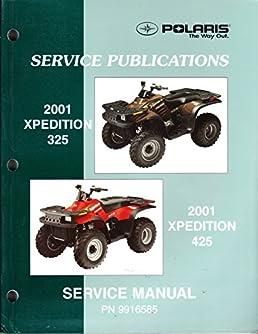 polaris atv 2001 xpedition 325 425 service repair manual 9916585 rh amazon com 2002 polaris xpedition 425 service manual 2000 Polaris Expedition 425