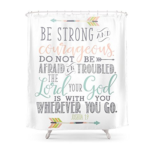 Society6 Joshua 19 Bible Verse Shower Curtain 71 By 74