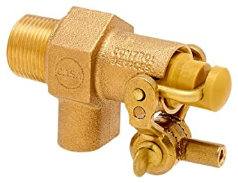 """Robert Manufacturing RC810 CASA Series Bob Red Brass Float Valve with Compound Operating Lever, 1/2"""" NPT Male Inlet x Free Flow Outlet, 22.5 gpm at 85 psi Pressure"""