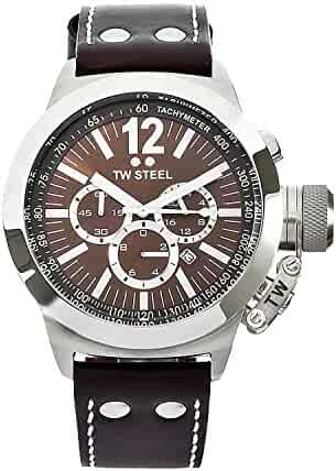TW Steel Men's CE1011 CEO Canteen Brown Leather Brown Chronograph Dial Watch