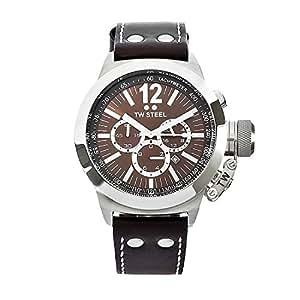 TW Steel CE1011 - Reloj cronógrafo de cuarzo unisex con correa de piel, color marrón