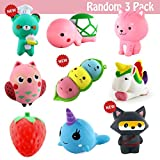 Toys : 3 Pack Squishies Jumbo, Slow Rising Squishy Toy Silly Kawaii Large Animals Toys Randomly Selected 3 PCs