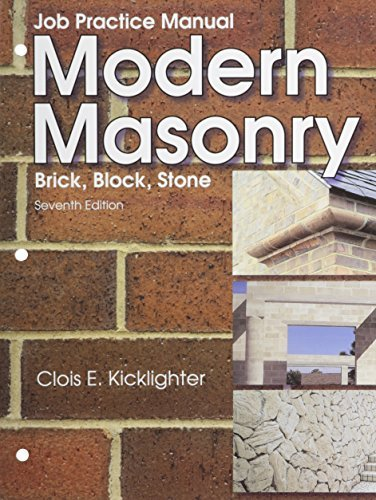 By Clois E. Kicklighter Ed. D. Modern Masonry (Seventh Edition, Job Practice Manua) [Paperback]