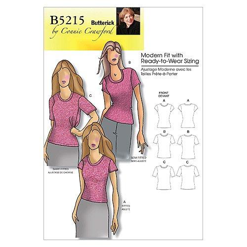 BUTTERICK PATTERNS B5215 Misses' /Women's Petite Top, Size Miss (XSM-SML-MED-LRG-XL)