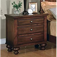 Sommer 3 Drawer Night Stand By Crownmark Furniture