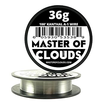100 ft - 36 Gauge Kanthal A1 Resistance Wire AWG 100 Lengths