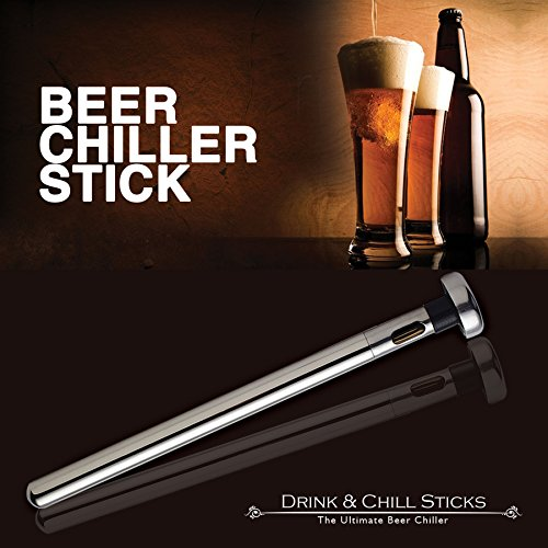 The Ultimate Beer Chiller Sticks 2 Pack  Cold Until the Last Sip  Best  Christmas Gifts for Husband, Dad, Men