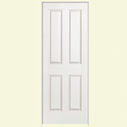 Amazon Solidoor Smooth 4 Panel Square Solid Core Primed