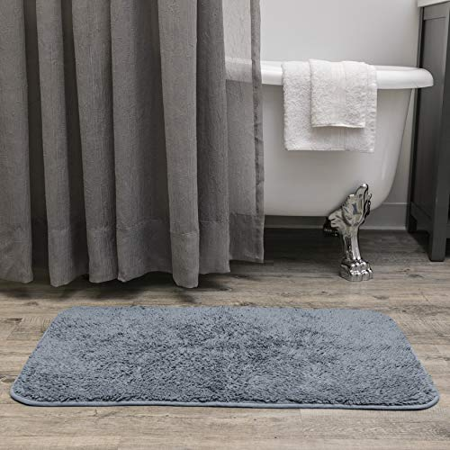 Baltic Linen Majestic Heavy Weight Cotton Rug, 34 x 21-inch, Serenity Blue (Area Rug Blue Baltic)