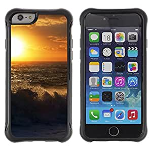 Pulsar Defender Series Tpu silicona Carcasa Funda Case para Apple iPhone 6 Plus(5.5 inches), Sunset Beautiful Nature 54